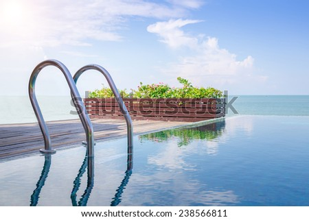 Beautiful view of Infinity Swimming Pool - stock photo