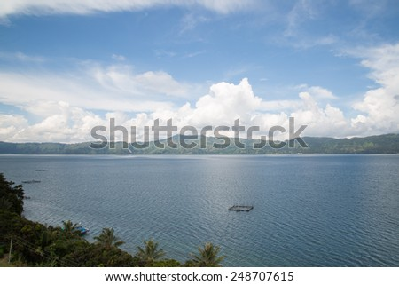 Beautiful view of lake Toba Indonesia.
