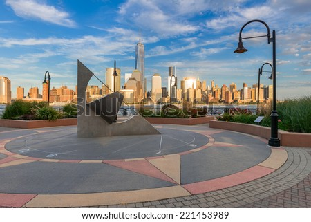 Beautiful view of Manhattan from Jersey City - stock photo
