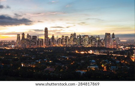 Beautiful view of Manila city/Philippines. - stock photo