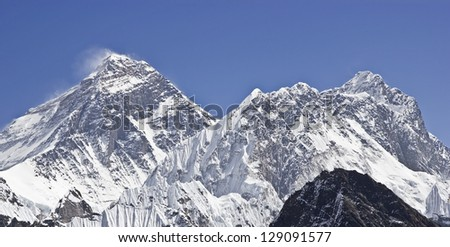 Beautiful view of Mount Everest, Sagarmatha National Park, Himalayas, Nepal