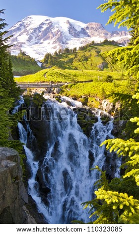 Beautiful View of myrtle falls - stock photo