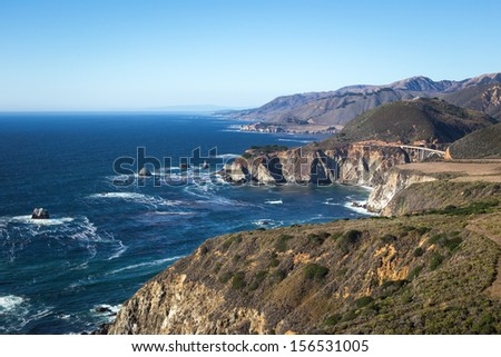 Beautiful view of Pacific Coast Highway. - stock photo