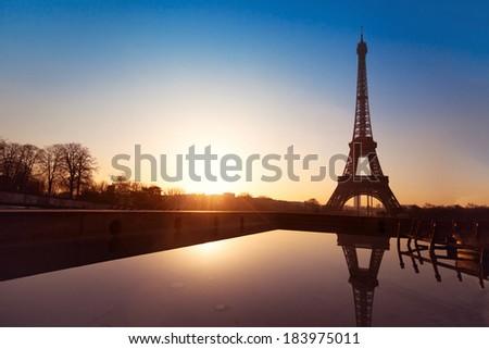 beautiful view of Paris, France - stock photo