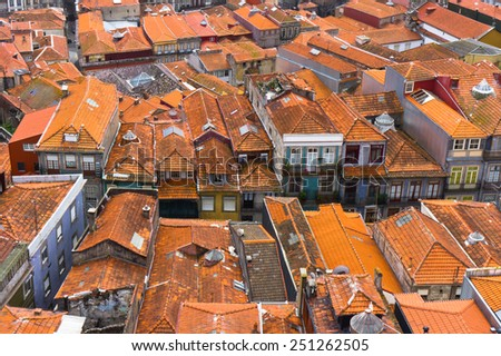 Beautiful view of Porto city, Portugal - stock photo
