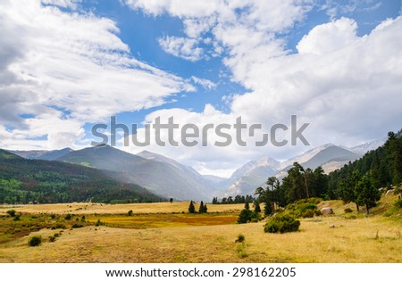 Beautiful View of Rocky Mountain National Park - stock photo