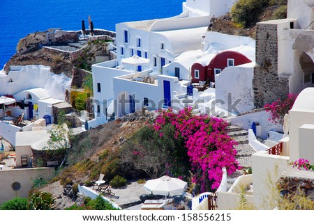 Beautiful view of Santorini island, Greece - stock photo