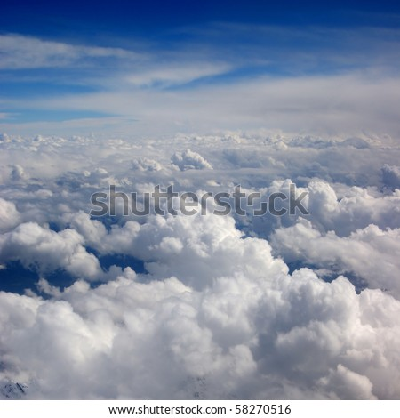 Beautiful view of sky - stock photo