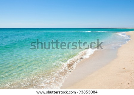 Beautiful view of the coast and the beach - stock photo