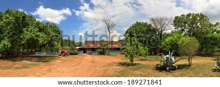 beautiful view of the Cuban ranch panorama - stock photo