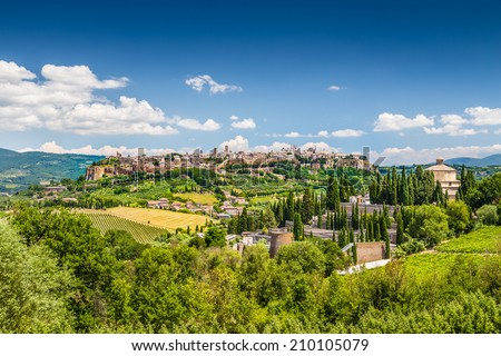 Beautiful view of the old town of Orvieto, Umbria, Italy - stock photo