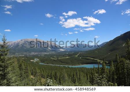 Beautiful View of the Rocky Mountains in Alberta, Canada