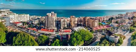 Beautiful view of Torremolinos coast. Malaga, Spain  - stock photo