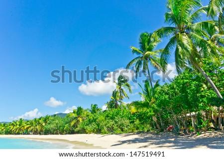 Beautiful view of Tortola, British Virgin Islands - stock photo