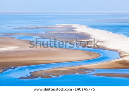 Beautiful view on Sandwich Harbour in Namibia, Africa - stock photo