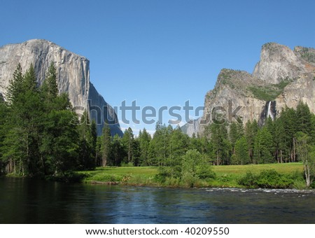 Beautiful view over the El Capitano, Yosemite national park
