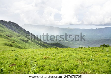 Beautiful View over the Mountains of Nyika Plateau, Malawi, Africa - stock photo