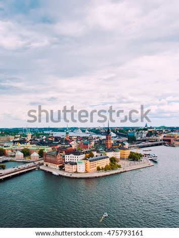 Beautiful view to Stockholm, Sweden