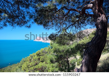 Beautiful views of the Mediterranean coast.