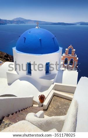 Beautiful Village of Oia in Santorini, Greece - stock photo
