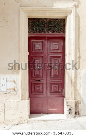 beautiful Vintage architecture with bright colors door / Doors of the world