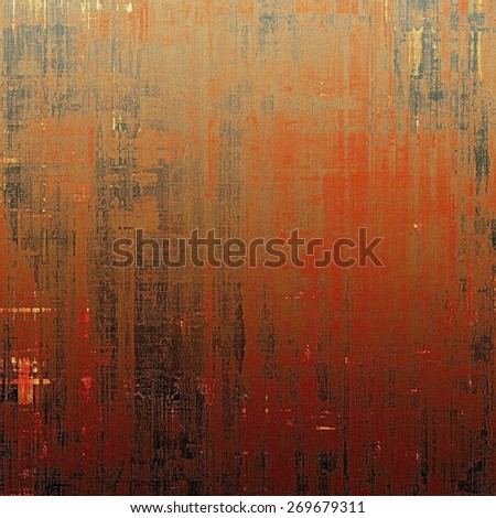Beautiful vintage background. With different color patterns: red (orange); brown; black - stock photo