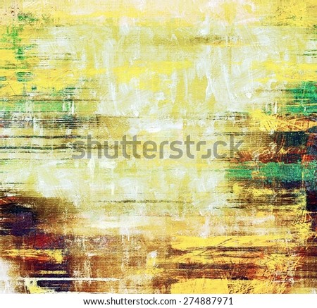 Beautiful vintage background. With different color patterns: yellow (beige); brown; green - stock photo