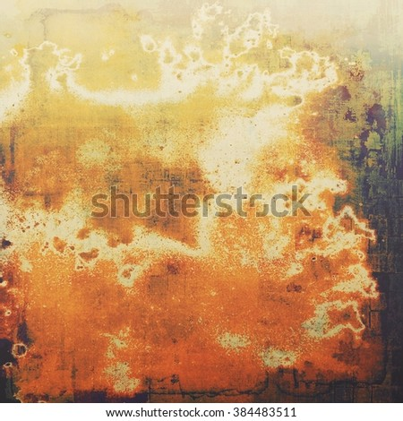 Beautiful vintage background. With different color patterns: yellow (beige); brown; green; red (orange); black