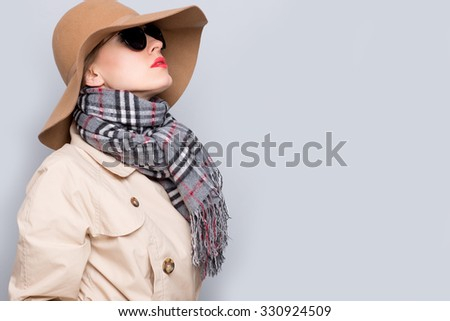 Beautiful vintage fashion woman - stock photo