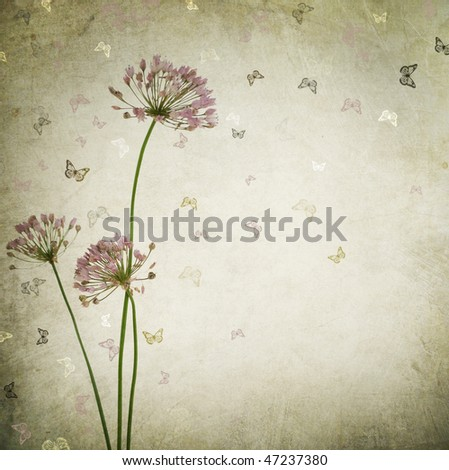 Beautiful Vintage Floral background - stock photo