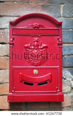 beautiful vintage letter-box, Siena, Italy - stock photo