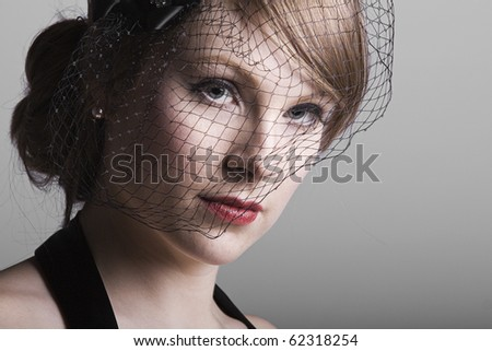 beautiful vintage 1930s retro styled low key girl