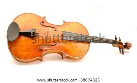 Beautiful viola on white background - stock photo