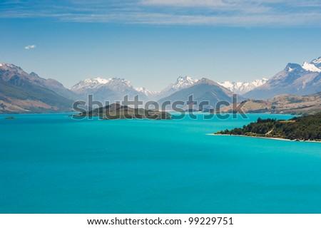 Beautiful Wakatipu Lake, New Zealand - stock photo