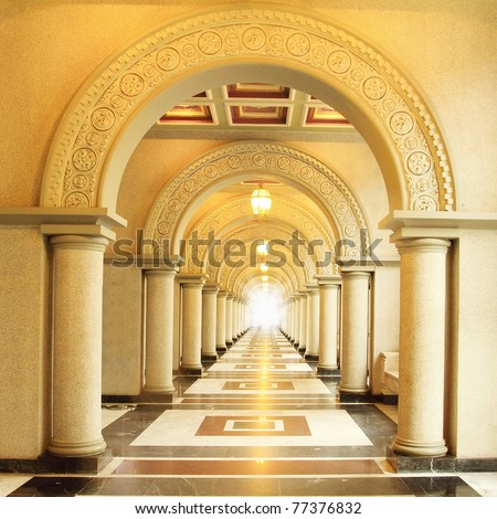 Beautiful walkway - stock photo