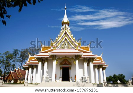 Beautiful Wat Thammasala Temple was Church of Buddhism in Thailand