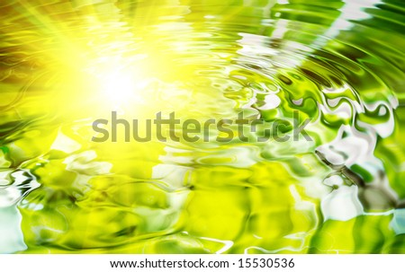 Beautiful water - stock photo