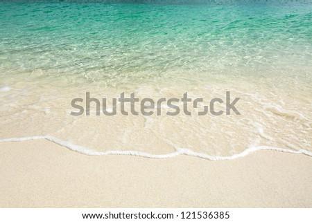 Beautiful water beach background - stock photo