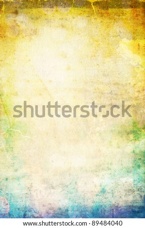 Beautiful water color on old paper texture background - stock photo