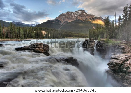 Beautiful Water Falls  - stock photo