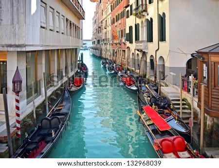 Beautiful water street - Venice, Italy, Europe. - stock photo