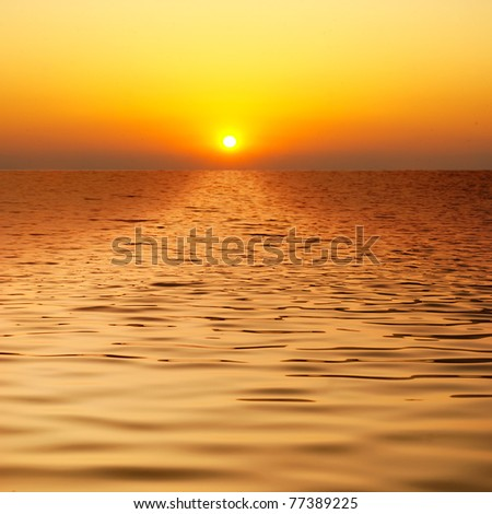 Beautiful water when sunset - stock photo