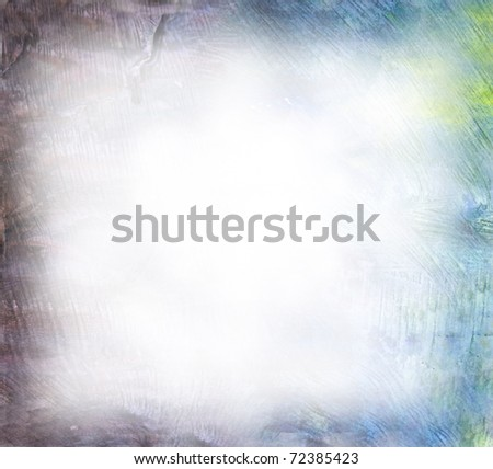Beautiful watercolor background in soft blue and green- Great for textures and backgrounds for your projects! - stock photo