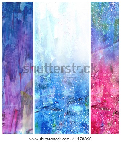 Beautiful watercolor background in soft blue, purple and red- Great for textures and backgrounds for your projects! - stock photo