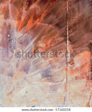 Beautiful watercolor background in soft brown, orange and purple- Great for textures and backgrounds for your projects! - stock photo