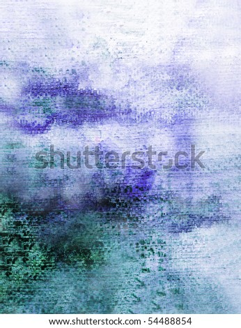 Beautiful watercolor background in soft green and purple-Great for textures and backgrounds for your projects! - stock photo