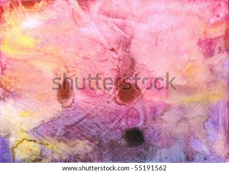 Beautiful watercolor background in soft magenta and purple- Great for textures and backgrounds for your projects! - stock photo