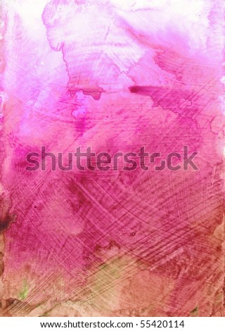 Beautiful watercolor background in soft pink and green- Great for textures and backgrounds for your projects! - stock photo
