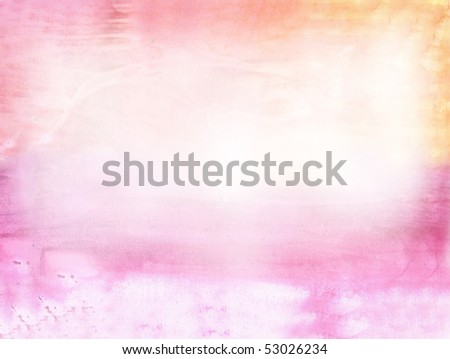 Beautiful watercolor background in soft pink and orange- Great for textures and backgrounds for your projects! - stock photo
