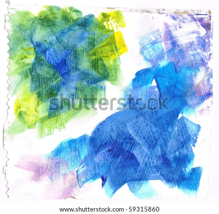 Beautiful watercolor background in soft pink, blue and green- Great for textures and backgrounds for your projects!